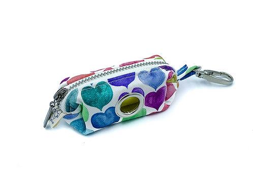 Rainbow Hearts Waste Bag Holder