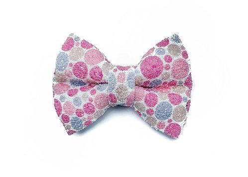 Pink Dot Glitter Bow Tie