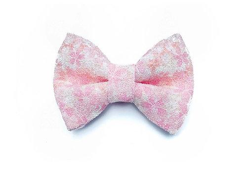 Sakura Glitter Bow Tie