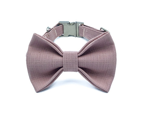 Earl Grey Macaron Bow Tie Collar