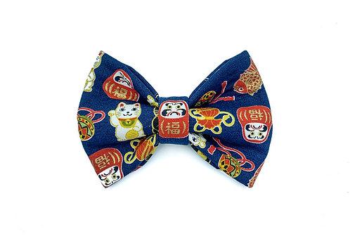 Blue Daruma Bow Tie