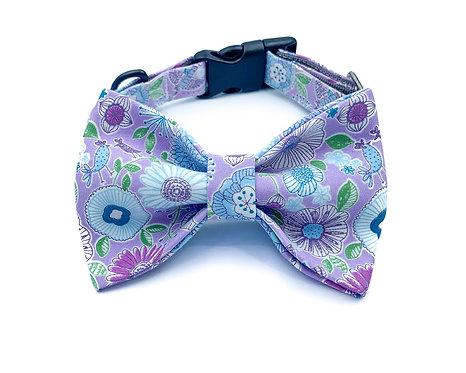 Purple Fantasy Bow Tie Collar