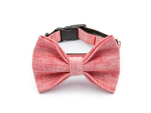 Chic Red Bow Tie Collar