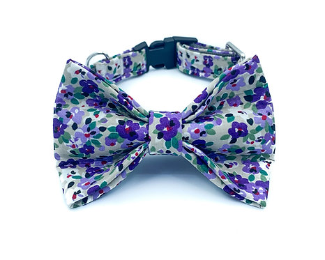 Purple Garden Bow Tie Collar