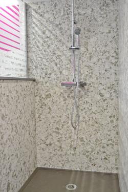 parois douche en quartz