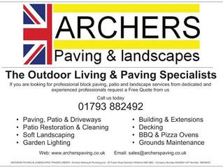 """Archers Heating Launch """"Archers Paving & Landscapes"""""""