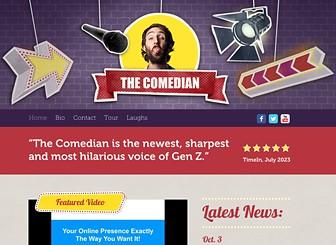 Comedian Website Template Wix