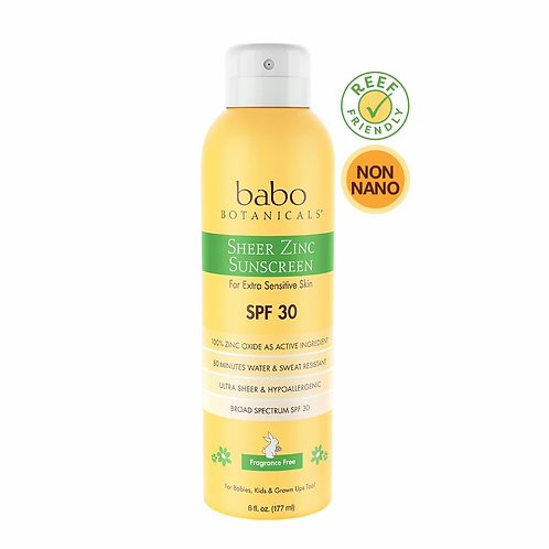 Babo Sheer Zinc Continuous Spray Sunscreen SPF 30
