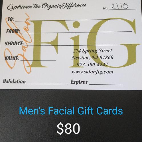 Gift Certificate - Men's Facial