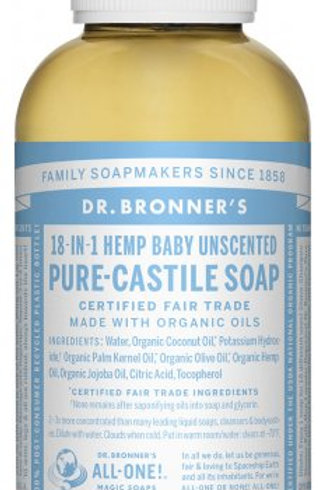 Dr Bronner's Pure Castile Liquid Soap - Baby/Unscented