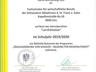 ÖKOLOG-Schule - Auch im Schuljahr 2019/20