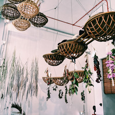 Studio SKLIM Rattan Clouds as a suspension vehicle for our installation