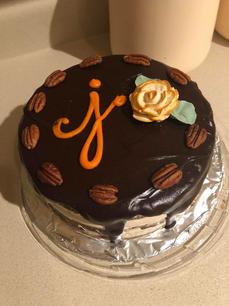 Chocolate Monogramed Cake