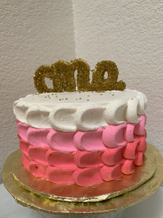 One Year Old Pink Birthday Cake