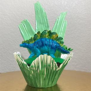 Dino Cupcake (blue)