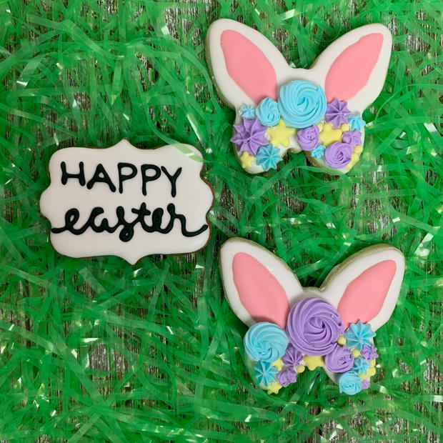 Bunny Ears and Easter Plaque