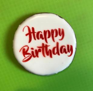 Happy Birthday Plaque (red)