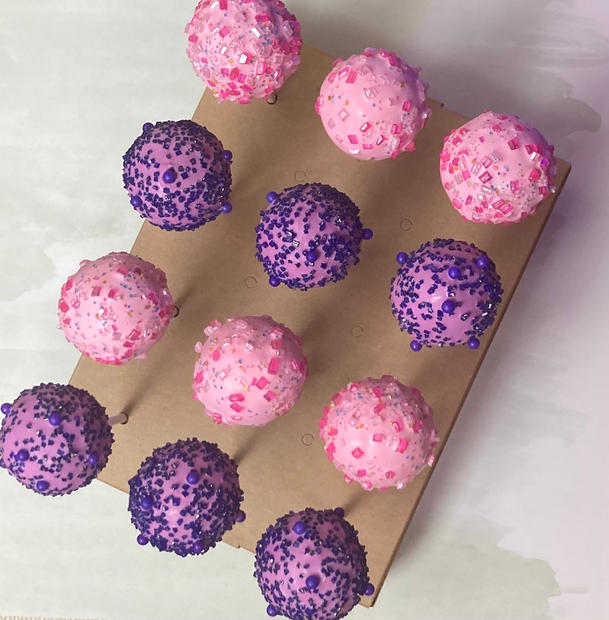 Purple and Pink Cake Pops