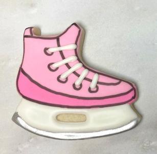 Pink Hockey Skate