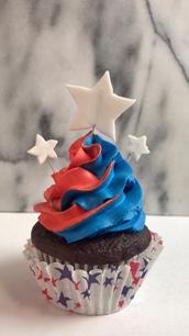 Red/White/Blue Cupcake