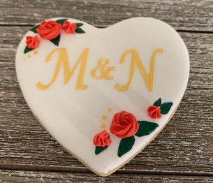 Monogrammed Wedding Cookie