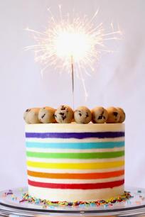 Rainbow Cookie Dough Cake