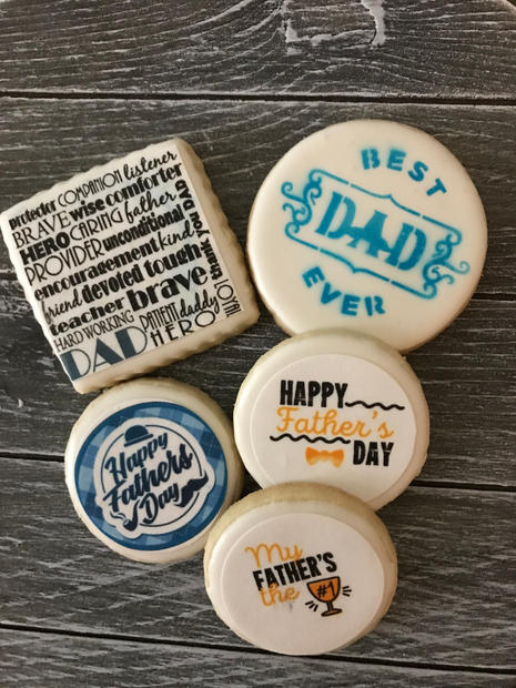 Assortment of Father's Day Cookies