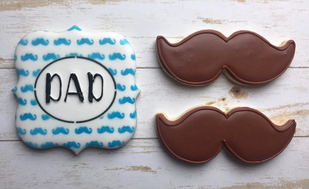 Dad Plaque with Mustaches
