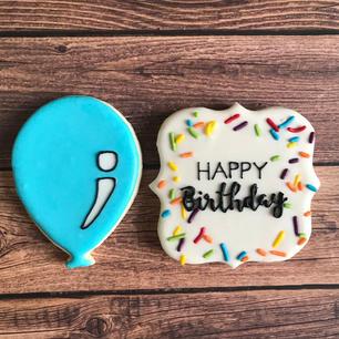 Balloon and Happy Birthday Plaque