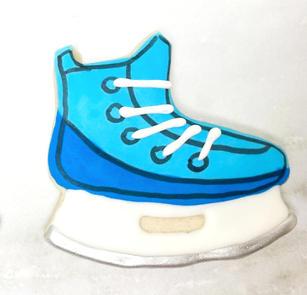 Blue Hockey Skate