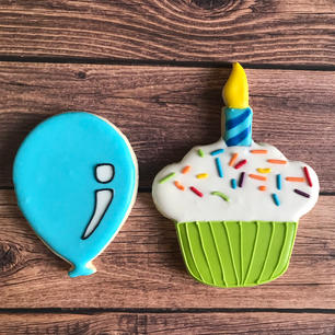 Balloon and Cupcake
