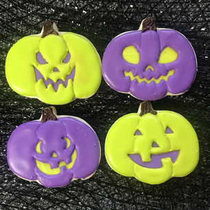 Jack O Lanterns (purple and green)