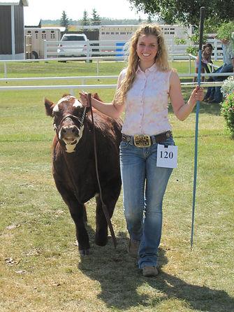 Tessa Verbeek cattle show