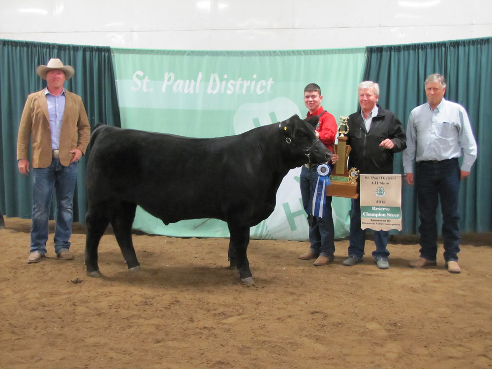 Roy Tymko Reserve Champion Steer St. Paul District 4-H Show