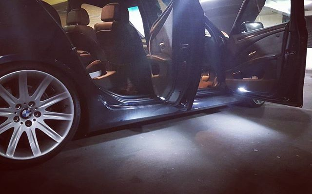 Monday morning mods! E60 tricked out with subtle interior led lights