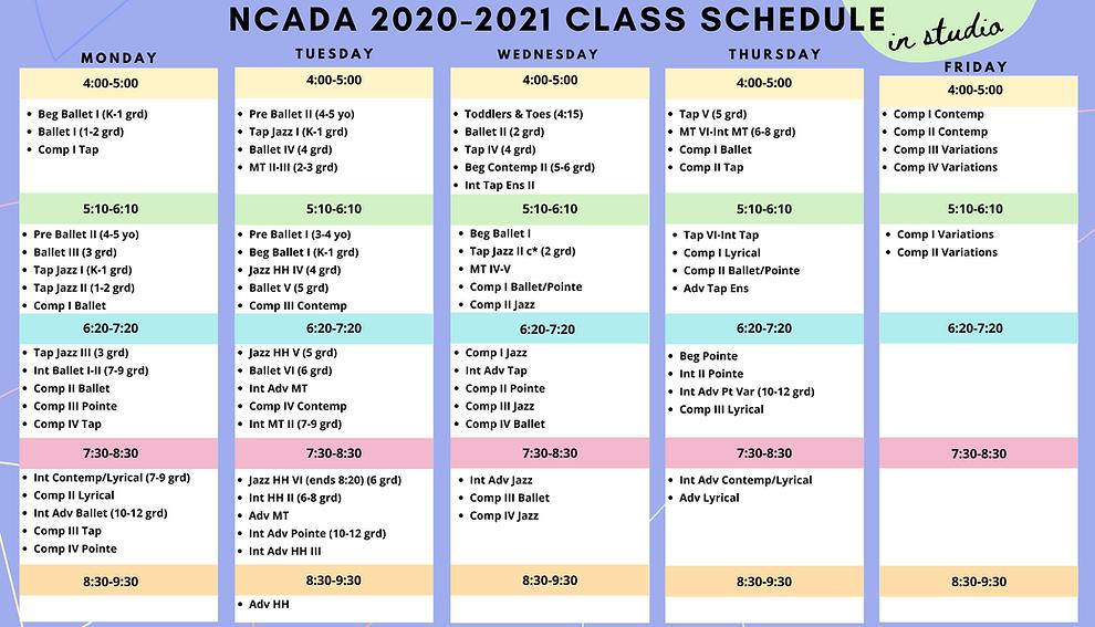20-21 Schedule