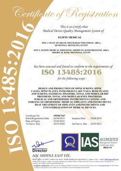 EgiFix Medical ISO Certificates