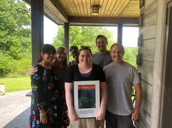 Farewell Party for Anna, with Sumana, SarahBeth, Amylisa, Anna, Curtis, and Dave (2019)