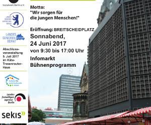 24. Juni 2017:      Eröffnung der 43. Berliner Seniorenwoche auf dem Breitscheidplatz