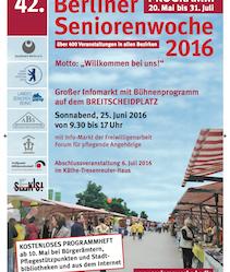 Eröffnung der 42. Berliner Seniorenwoche 2016 auf dem Breitscheidplatz