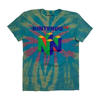 Nintendo 64 Logo Tie Dye Shirt - M