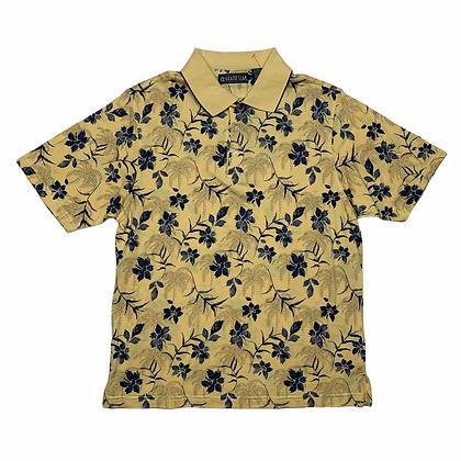 Grand Slam Penguin Yellow Hawaiian Polo Shirt