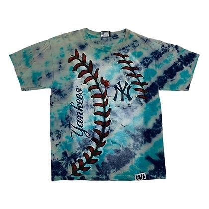 Liquid Blue NY Yankees Baseball Tie Dye Shirt - YL