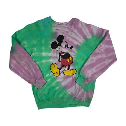 Vintage 80's Mickey Mouse Tie Dye Crewneck - M