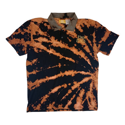 The Lord of the Rings Bleach Dye Polo Shirt - M