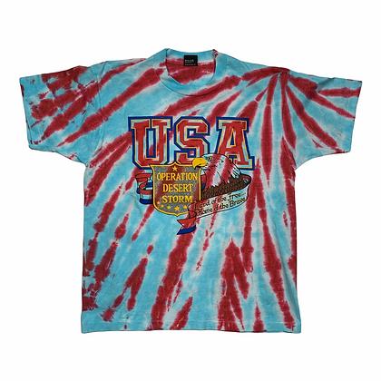 Vintage USA Operation Desert Storm Tie Dye Shirt