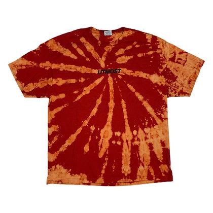 Utmost Small Script Bleach Dye Shirt - XXL