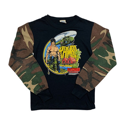 Vintage 1985 Rambo Part II L/S Graphic Shirt - S