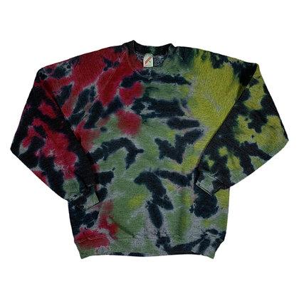 Vintage Jerzees Rhasta Blank L/S Tie Dye Sweatshirt - XL