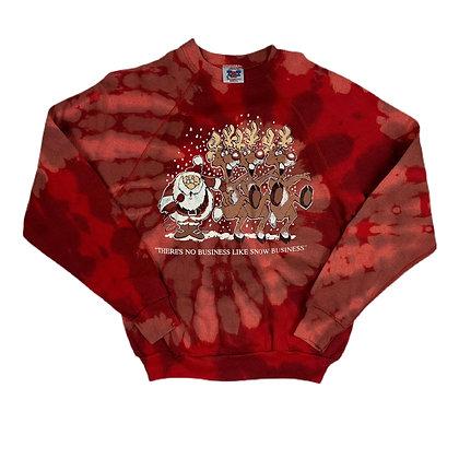 Vintage Christmas Reverse Dyed Sweatshirt - L